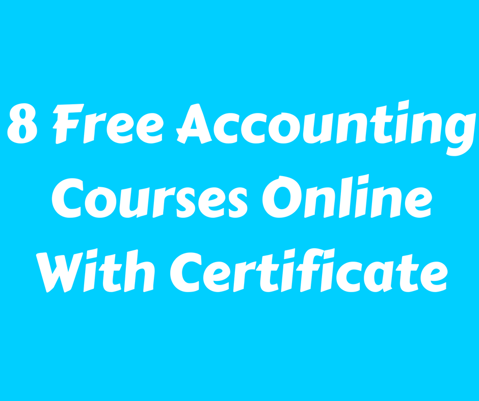 Free Accounting Courses Online With Certificate